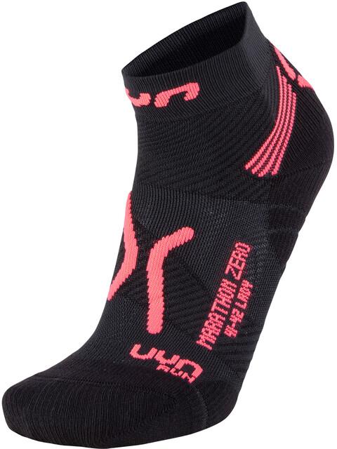 UYN W's Run Marathon Zero Socks Black/Coral Fluo